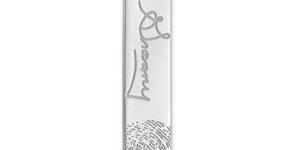 Vertical Signature And Fingerprint Charm