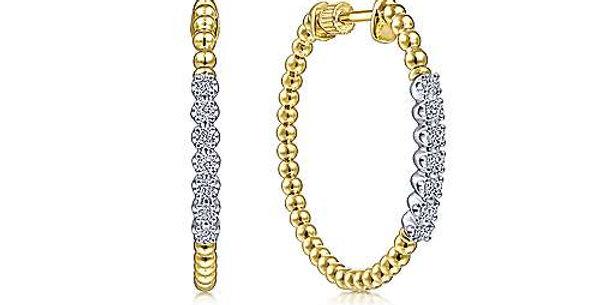 Gabriel & Co. Bujunkan Diamond Hoop Earrings