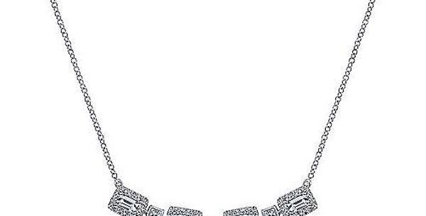 Gabriel & Co.   Rectangular Diamond Choker Necklace