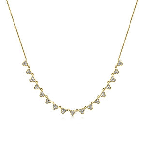 Gabriel & Co.- Scalloped Diamond Choker Necklace