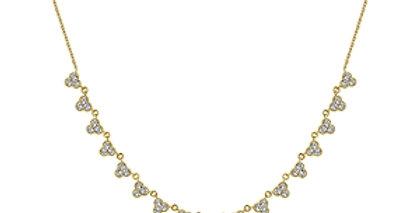 Gabriel & Co.- Scalloped Diamond Choker Necklace