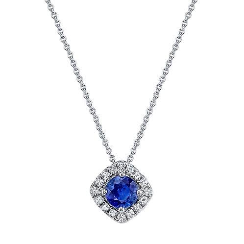 MARS Fine Jewelry - Blue Sapphire Halo Pendant