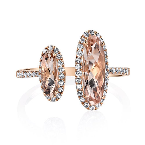 MARS Fine Jewelry - Golden Blossoms Morganite Ring