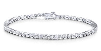 Gabriel & Co. Mini Bezel Diamond Bracelet