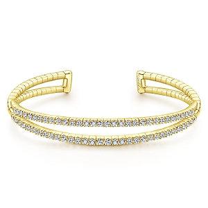 Gabriel & Co.- Dual Row Diamond Bangle
