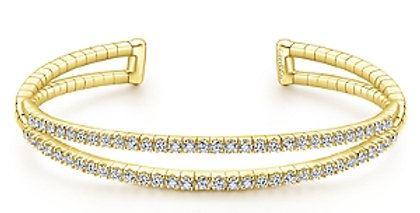 Gabriel & Co.- Dual Row Diamond Bangle