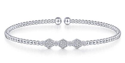 Gabriel & Co.- Geometric  Diamond Accent Bangle