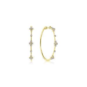 Gabriel & Co.- Contemporary Diamond Hoop Earrings