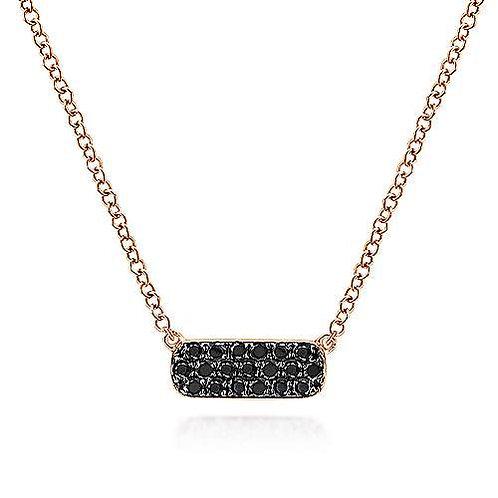 Gabriel & Co.- Mini Pave Black Diamond Bar