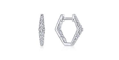 Gabriel & Co.- Geometric Diamond Huggie Earrings