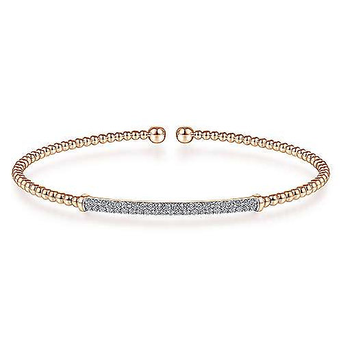 Gabriel & Co.- Diamond Bar Accent Bangle