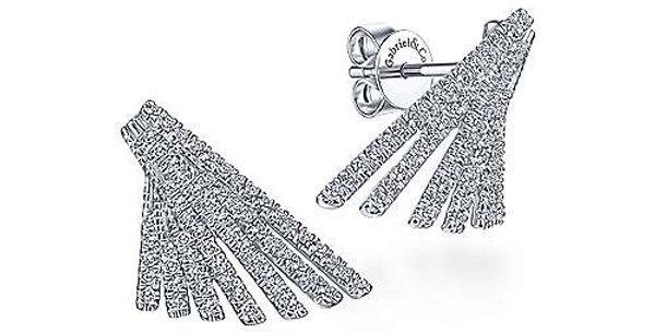Gabriel & Co.- Art Moderne Diamond Earrings