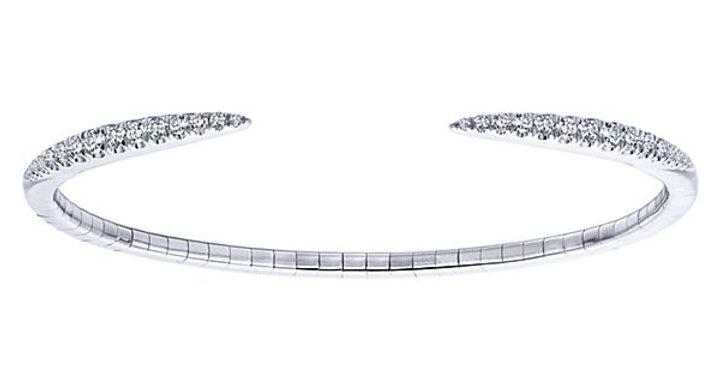 Gabriel & Co.- Diamond Open Cuff Bangle