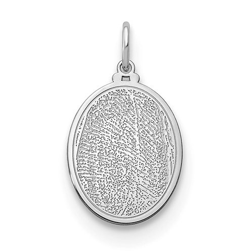 Small Oval Fingerprint Pendant