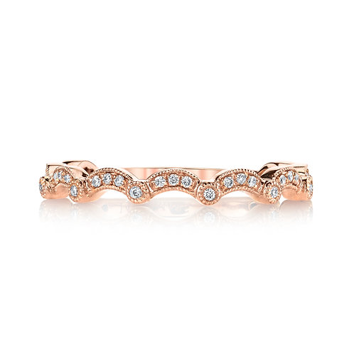 MARS Fine Jewelry - Rebel Hearts Scalloped Band