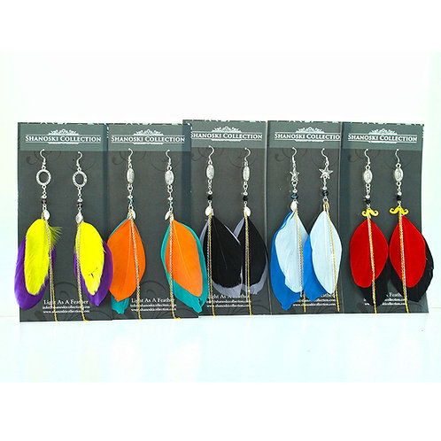 Sports Team Customized Feather Earrings