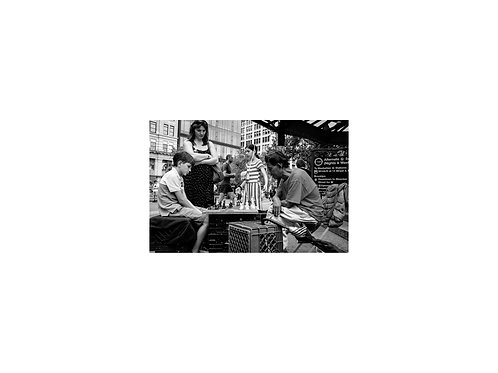 Christine Mace Chess in Union Square Park 1, photograph