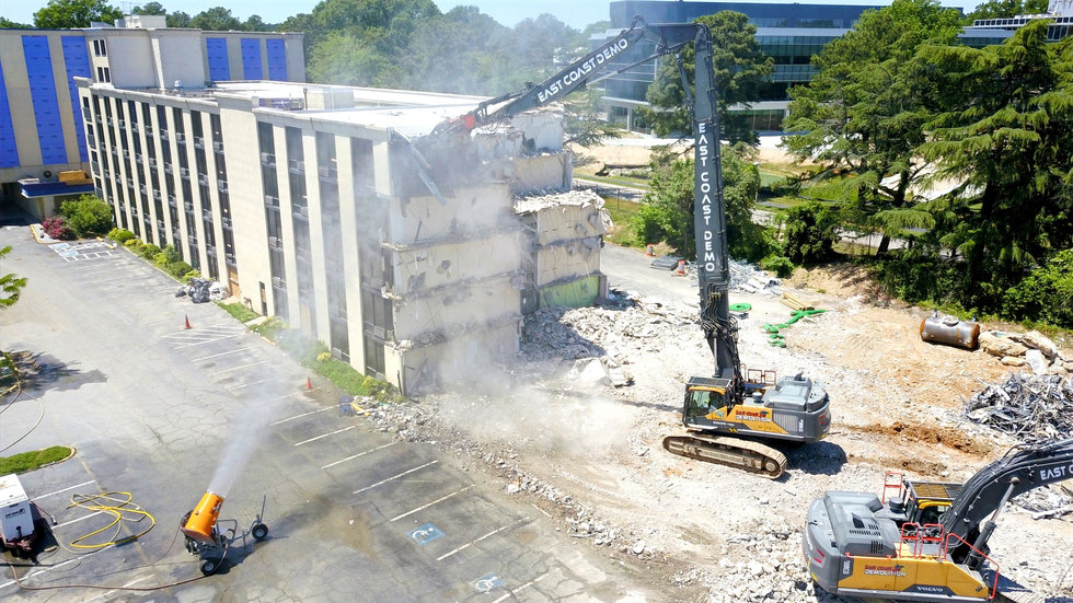 5 Story Hotel Abatement and Demolition, Richmond, VA