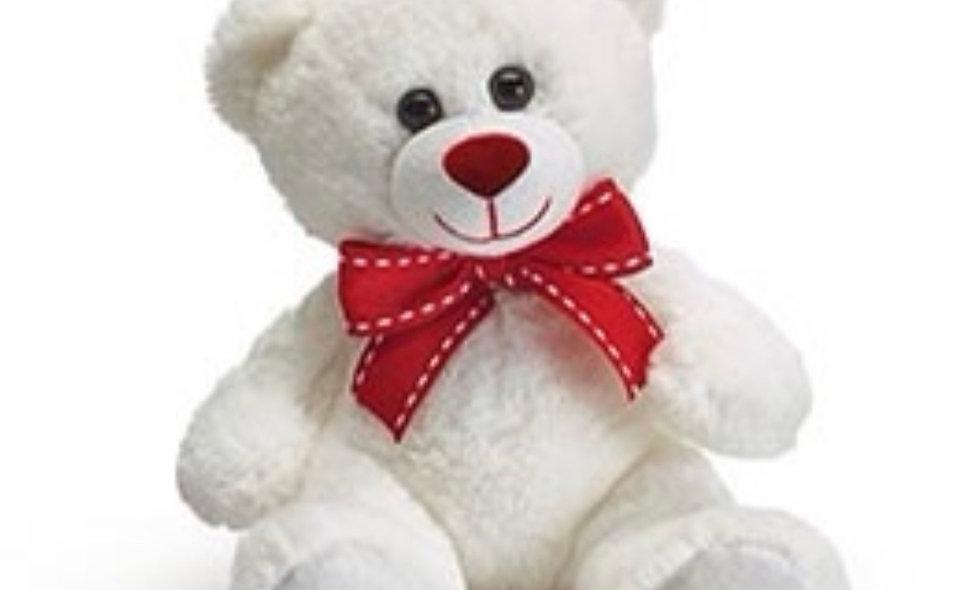 7' White Teddy Bear