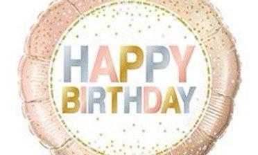 18in pkg birthday metallic dots balloon