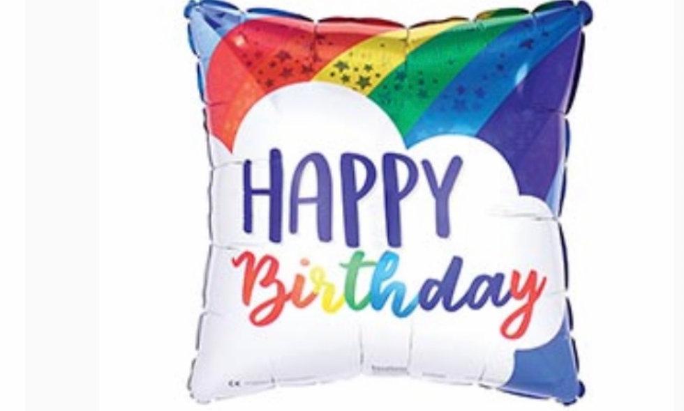 17' Rainbow Happy Birthday