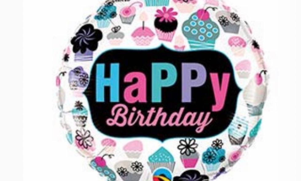 18' Cupcake Happy Birthday