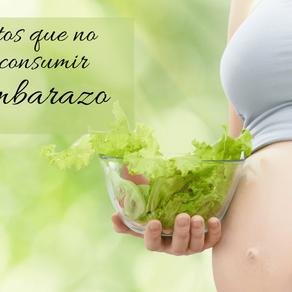 Alimentos que no debemos consumir  en el embarazo