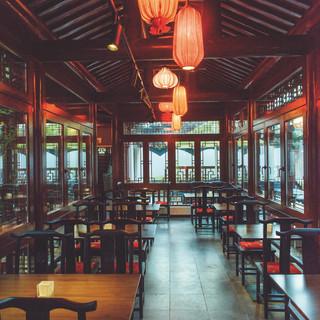 Yu Garden Restaurant im chinesischen Teehaus Innenbereich