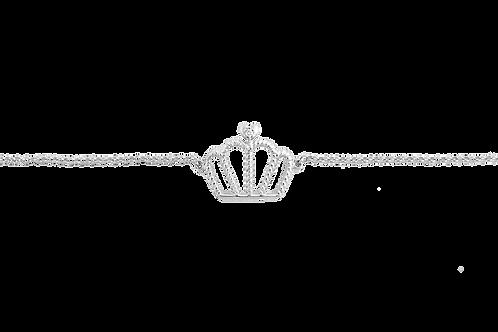 Pulseira Coroa em Ouro Branco