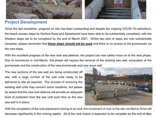 East Rhyl Coastal Defence March 2021 Newsletter.