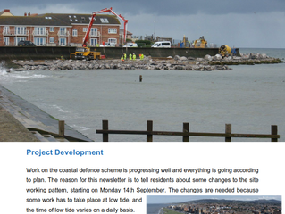 East Rhyl Coastal Defence Update