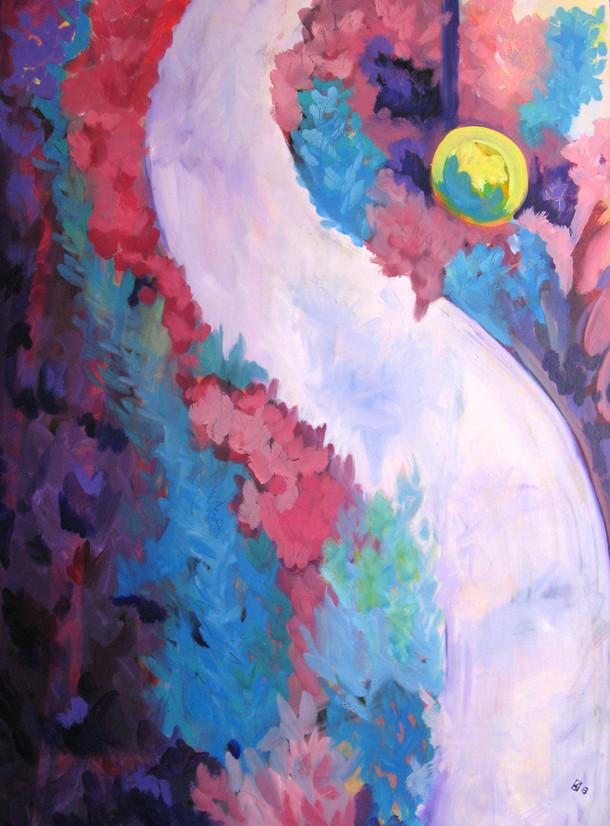 "Garden - OIl on canvas, 30"" x 40"" - $1,400"