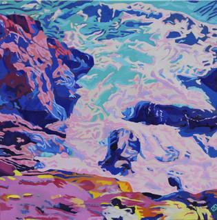 """Maine Ocean - Oil on canvas, 24"""" x 24"""" - $1,000."""