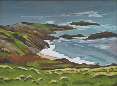 Irish Coastline - Oil on canvas