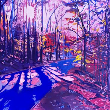 """Autumn Light - Oil on canvas, 24"""" x 24"""", NFS."""