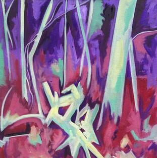 """Fallen - Oil on canvas, 18"""" x 18"""" - $400"""