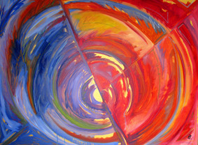 """Funnel - Oil on canvas, 40"""" x 30"""" - $1,450."""