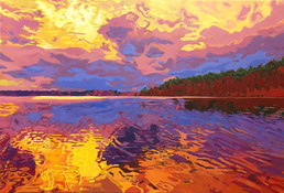 """Lakerise  - Oil on canvas, 36"""" x 24"""" - $2,500.  For sale at Artisans Way in Concord, MA."""