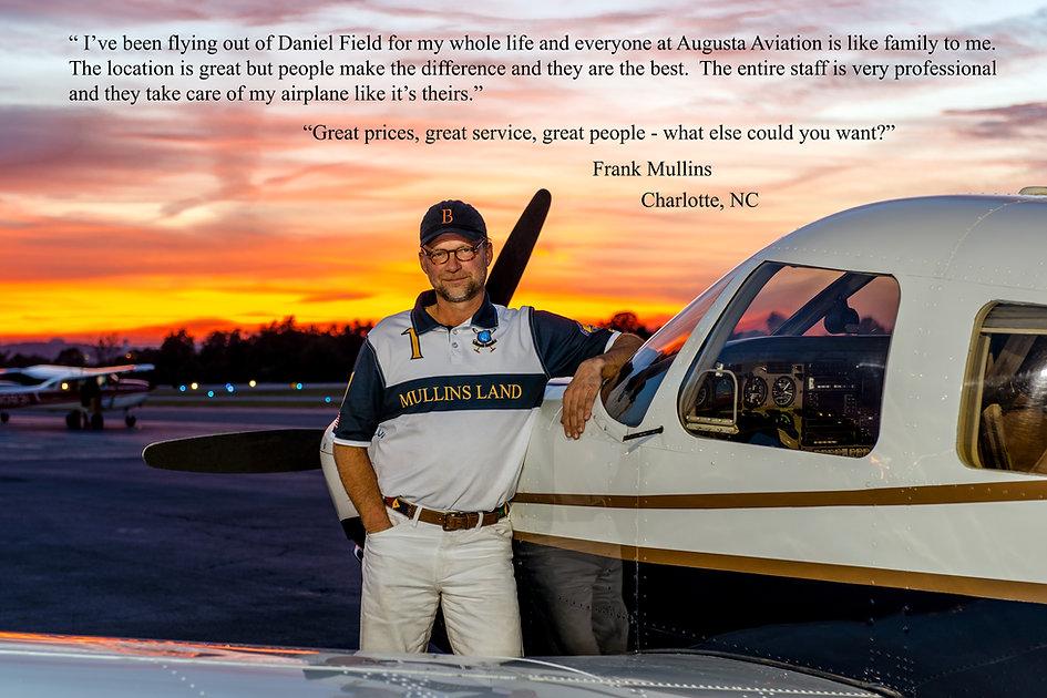 Frank Mullins Aiken Augusta aviation customer service