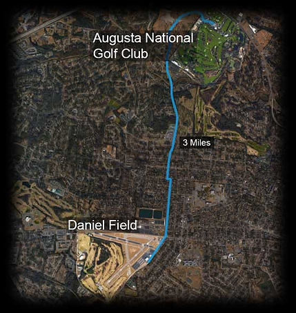 Distance from Daniel Field to Augusta National Golf Course