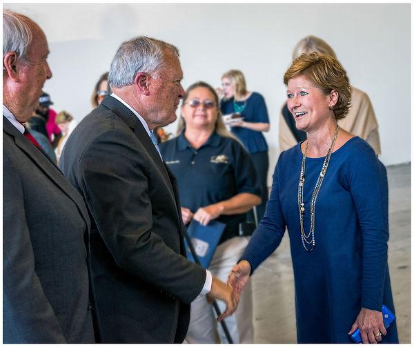 augusta aviation Daniel field hangar door dedication, Governor Nathan Deal, Becky Shealy,