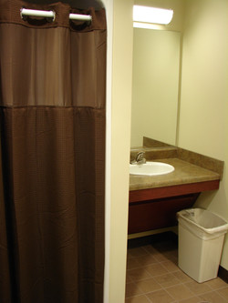 Pilots restroom and shower