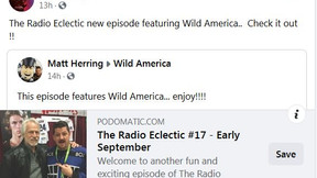 WildAmerica The Radio Eclectic #18 - Late September By THE RADIO ECLECTIC