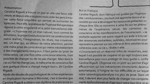 Ma pratique hypnotique dans la revue Recto Verseau