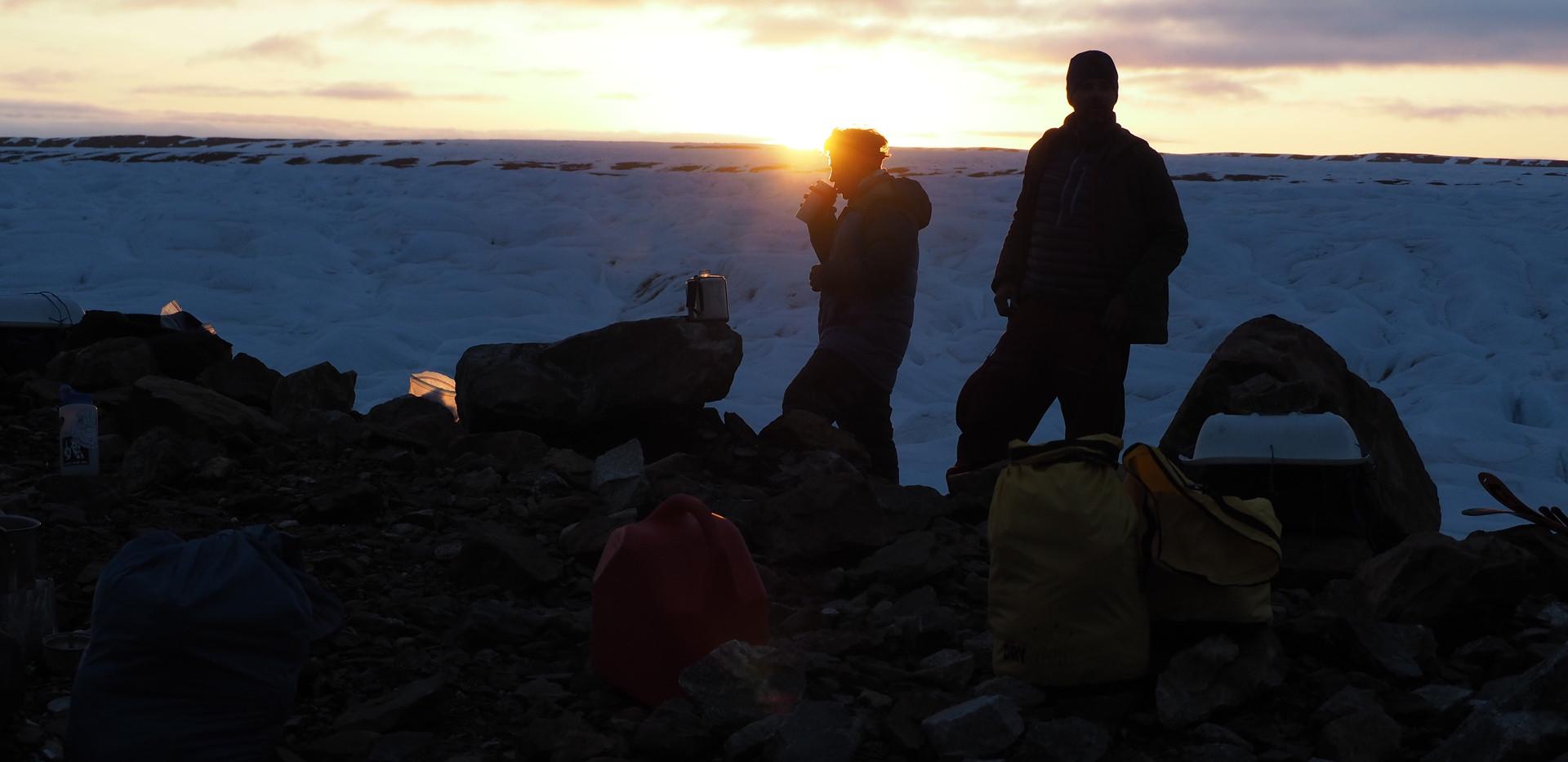 Evening light on a sea of ice