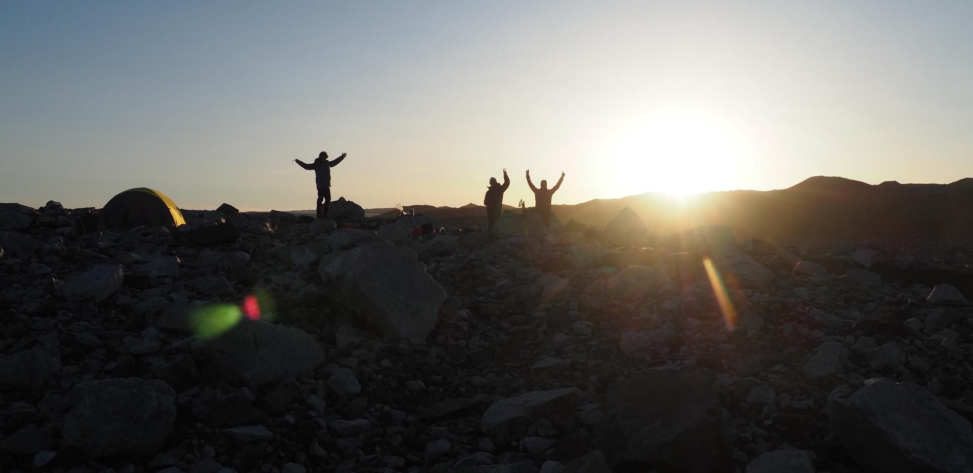 Camp 3 at sunset