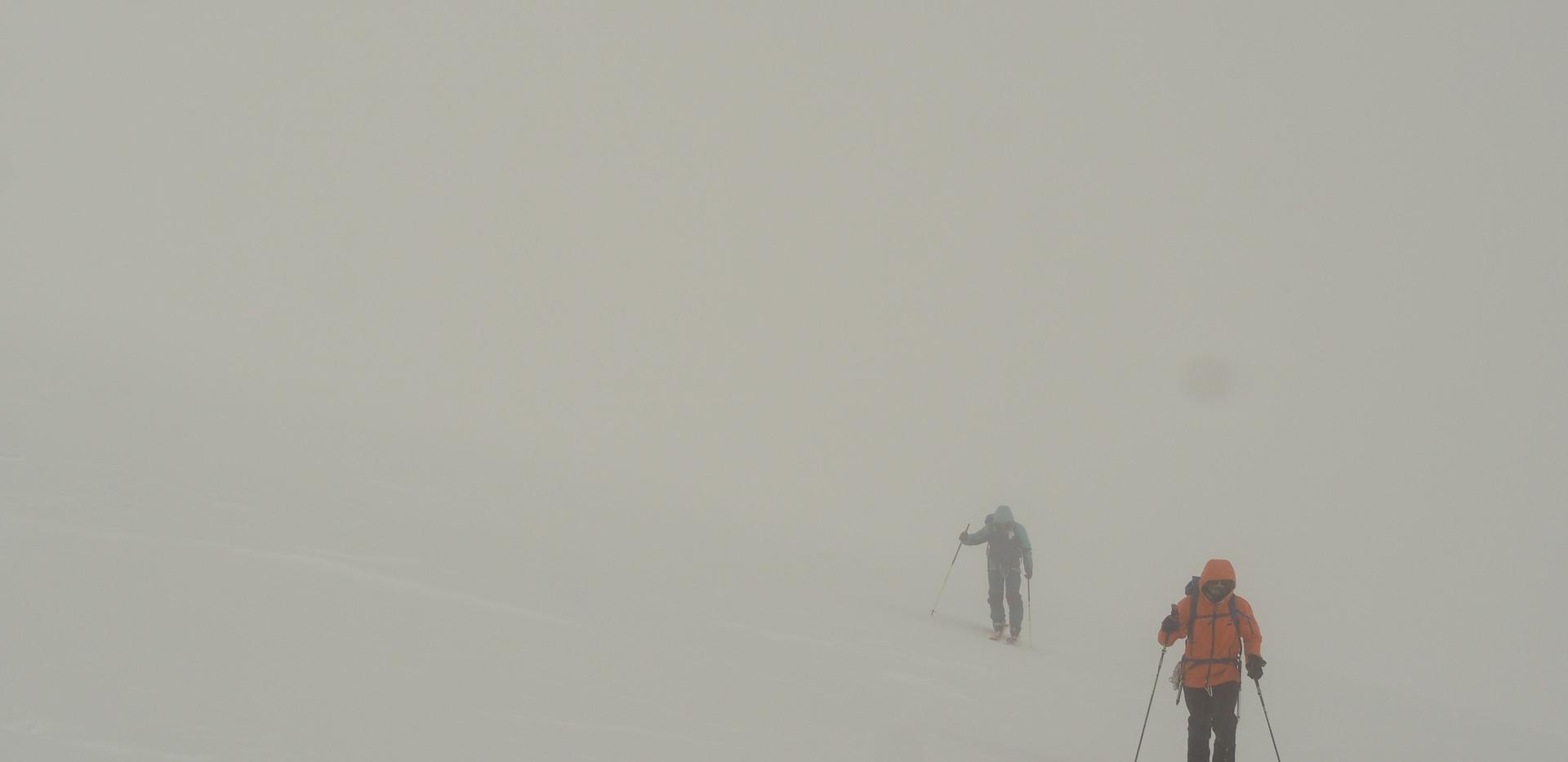 Summit day in the fog