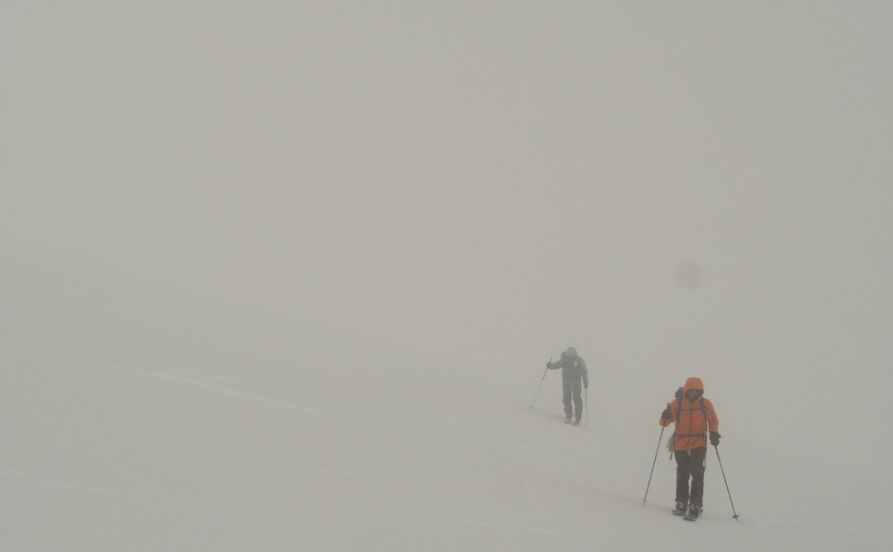 Summit day in the fog