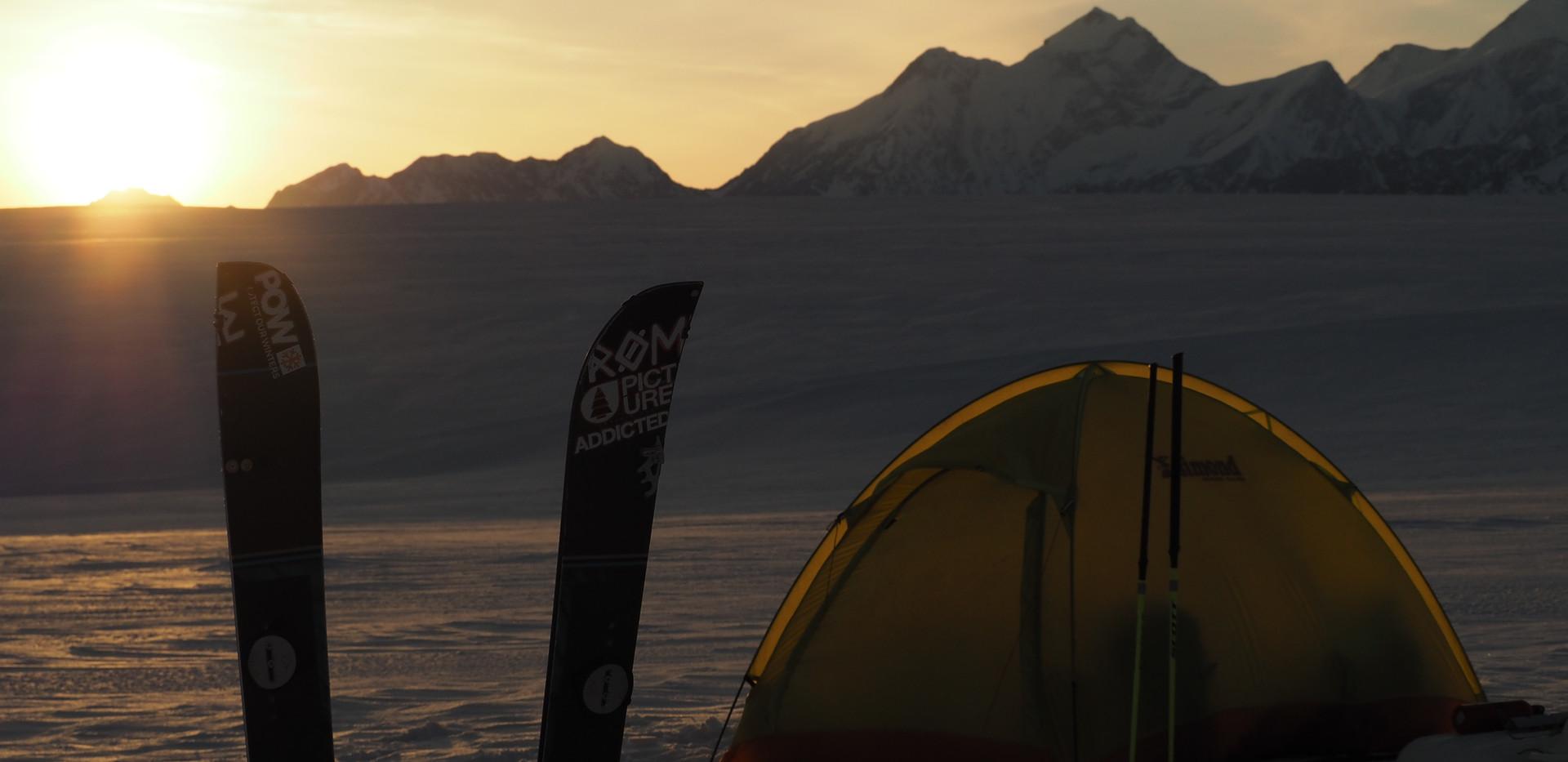 Sunset on Seward glacier