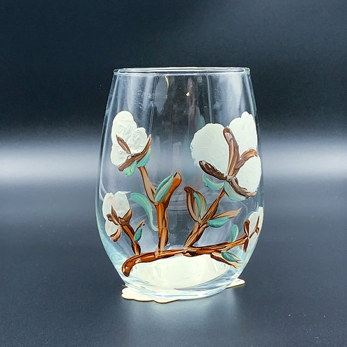 Hand Painted Large Cotton Glass